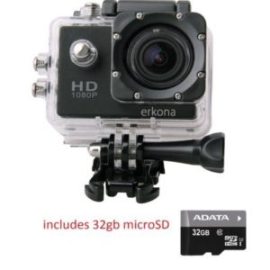 barrons caravans Barrons Caravans and Motorhomes Erkona 1080P Waterproof Action Camera Camcorder DV and 32gb microSD includedSports Camera 12MP HD DVR Camcorder Mounting Accessories Kit 0