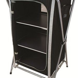 barrons caravans Barrons Caravans and Motorhomes Highlander Easy Fold 3 Shelf Camp Cupboard BlackSilver 0