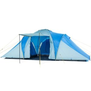 Skandika Daytona Family Camping Tent with 3 Sleeping Rooms and Sun Canopy Porch, 6 Persons/2X-Large