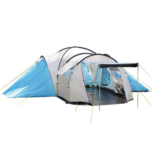 Skandika Toronto Large 8 Person Family Camping Tent With 3 Sleeping
